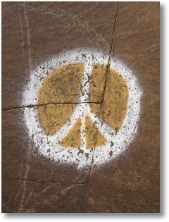 771169 peace sign painted on rock 2