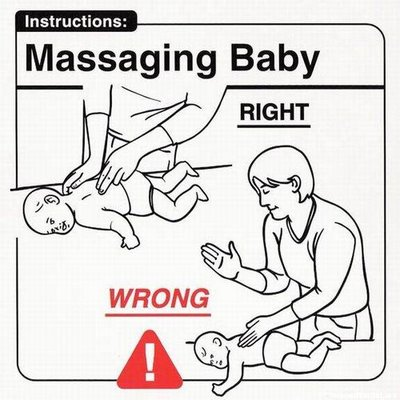 childcarefordummies10-massagingbaby