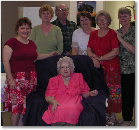 Mom w most of us at 90th party